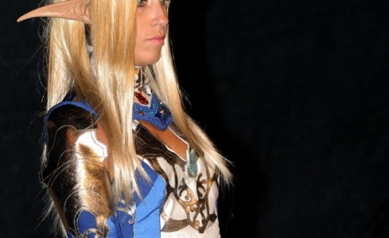 Cosplay dal gioco LineageII: Elfa in Blue Wolf light di Annamaria Quaresima