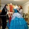 Annamaria e Antonella con i costumi del film Winx in 3D per Bloom e Sky